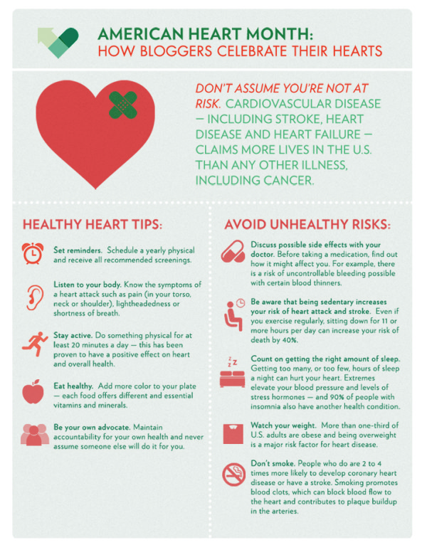 My Heart and the Foundations of Health | happyliving.com - infographic via The American Recall Center